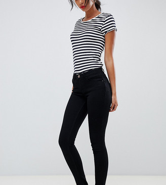 Only Tall skinny leg push up effect jean in black