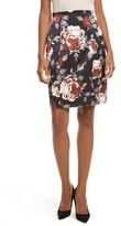 Theory Women's Hourglass Floral Print Skirt