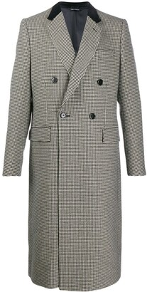 Dolce & Gabbana houndstooth double-breasted coat
