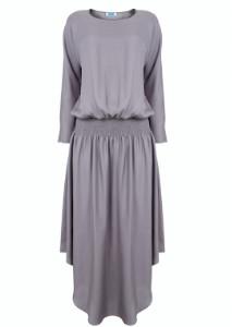 Jane Says - Silver Plain Jane Midi Dress - XS - Silver