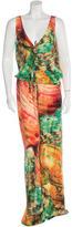 Roberto Cavalli Silk Abstract Print Jumpsuit