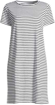 Eileen Fisher Organic Linen Jersey Striped T-Shirt Dress