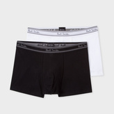 Paul Smith Men's Black And White Boxer Briefs Two Pack
