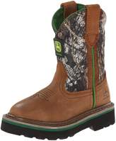 John Deere 2188 Western Boot (Toddler/Little Kid),Tan/Camouflage