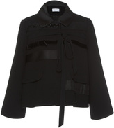 Dice Kayek Grosgrain Ribbon Cropped Jacket