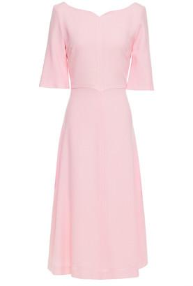 Goat Wool-crepe Midi Dress