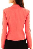 JCPenney 9 & Co.® Button-Notch Collar Faux-Pocket Jacket