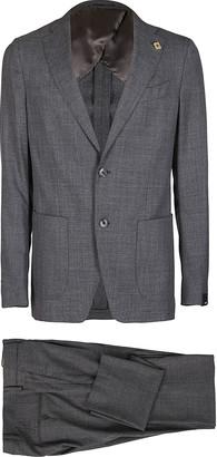 Lardini Grey Wool Two Piece Suit