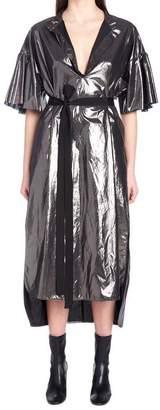 Nude Metallic Belted Dress
