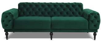 Jennifer Taylor Tappman Modern Button Tufted Velvet Sofa