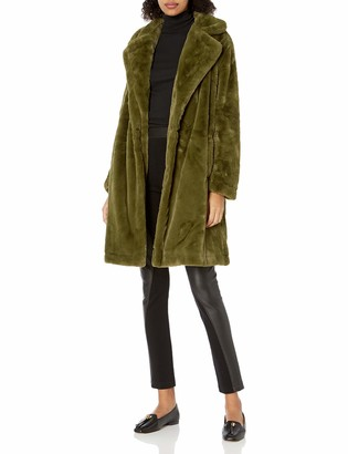 French Connection Womens Inverted-Collar Belted Trench Coat