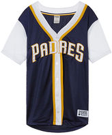 PINK San Diego Padres Mesh Button Down Jersey