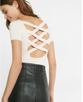 Express crisscross back short sleeve tee