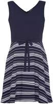 Yumi Navy Stripe Print Sleeveless Dress