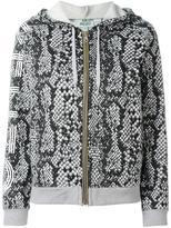 Kenzo snakeskin print hoodie - women - Cotton - XS