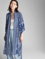 Gap Longline Tie-Dye Print Kimono Jacket
