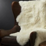 "Crate & Barrel Sheepskin Ivory 42""x72"" Throw/Rug"