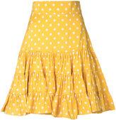 Bambah - polka ruffle mini skirt - women - Silk - 8