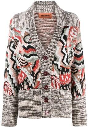 Missoni Intarsia Knit Buttoned Cardigan