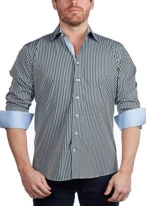Levinas Gingham Contemporary Fit Shirt
