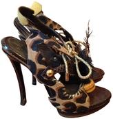 Louis Vuitton Leopard print Pony-style calfskin Sandals