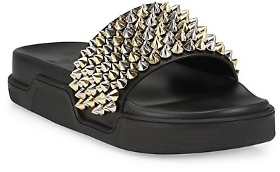 Thumbnail for your product : Christian Louboutin Pool Roc Flat Slides