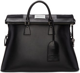 Maison Margiela Black Leather Duffle Bag