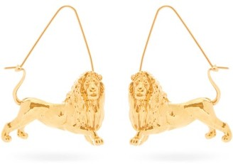 Givenchy Leo Zodiac Hoop Earrings - Womens - Gold