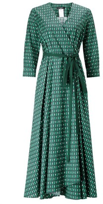 Max Mara Weekend Emerald V Neckline Ravello Wrap Dress