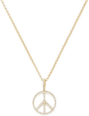 Rosa de la Cruz 15Mm Peace Pendant Necklace