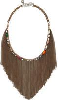 Shourouk Kiki brass and Swarovski crystal bib necklace