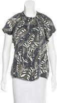 Tucker Printed Button-Up Top