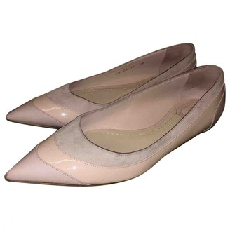 Christian Dior Pink Suede Flats