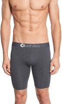 Ethika Men's Solid Stretch Modal Boxer Briefs