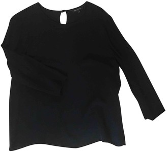 Tara Jarmon Black Silk Top for Women