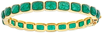 Forever Creations Usa Inc. Forever Creations 18K Over Silver 30.00 Ct. Tw. Emerald Bangle
