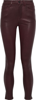 Frame Le Skinny Stretch-leather Pants