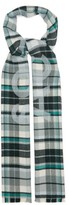 Acne Studios Victoria Checked-wool Scarf - Womens - Green