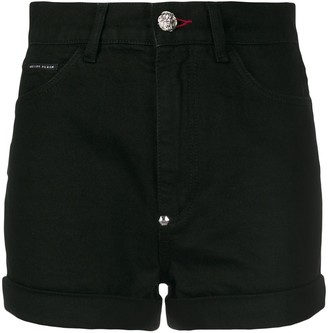 Philipp Plein Rock PP denim shorts
