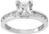 Journee Collection 1 2/5 CT. T.W. Emerald-cut Cubic Zirconia Engagement Basket Set Ring in Sterling Silver - Silver