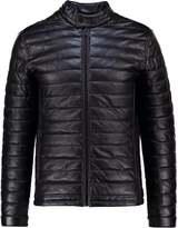 Jack & Jones Jcopupuffer Faux Leather Jacket Black