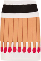 Moschino Intarsia Wool Mini Skirt - Beige