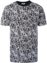 Christian Dior graphic line detail T-shirt - men - Cotton/Polyurethane - S