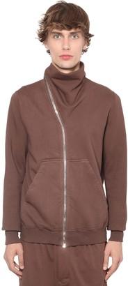 Rick Owens Drkshdw Zip-Up Cotton Jersey Sweatshirt