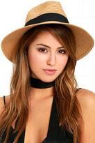 LuLu*s Clear Skies Tan and Black Hat