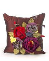 Mackenzie Childs MacKenzie-Childs Botanica Small Square Pillow