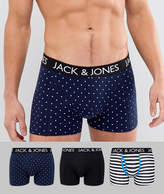 Jack and Jones Print Trunks In 3 Pack