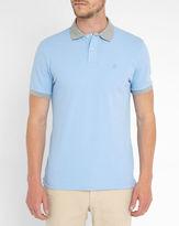Hackett Sky Blue Chest Logo Two-Tone Polo Shirt