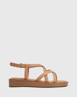 Wittner - Women's Nude Sandals - Etienne Leather Cross Strap Sandals - Size One Size, 37 at The Iconic