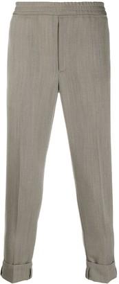 Neil Barrett Herringbone-Pattern Slim-Fit Trousers